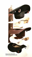 American Made Cowboy Hat Holder with Stars Powder Coated Bronc