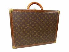 Auth LOUIS VUITTON Monogram Trunk Hard Case Travel Luggage Cotteville 45 N3