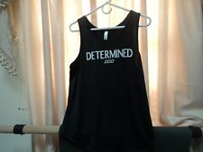 Lorna jane charcoal grey tank DETERMINED sz L