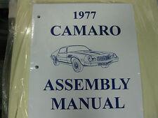 1977 CAMARO (ALL MODELS) ASSEMBLY MANUAL