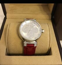 Louis Vuitton Tambour Forever Women Wrist Watch 12P Diamond Silver Q131P Kawaii