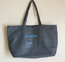 Bloomingdale's Tote Bag Medium Size Faux Leather GRAY #1016B GWP New