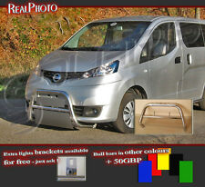 NISSAN NV200 2009+ BULL BAR WITHOUT AXLE BARS +GRATIS!!! STAINLESS STEEL!