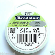 Beadalon 7 Strand: 30 pies: brillante