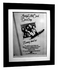 AVERAGE WHITE BAND+Benny & Us+POSTER+AD+FRAMED+ORIGINAL 1977+EXPRESS GLOBAL SHIP