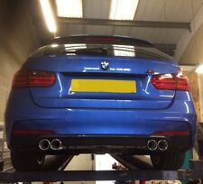 BMW F30/F31 QUAD EXHAUST SYSTEM.320D,2014 3 SERIES STAINLESS STEEL EXHAUST SYS.