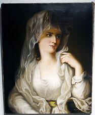 Eleonora S. - Bildnis einer Vestallin frühe Kopie nach Angelica Kauffmann 1840