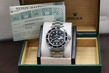 ROLEX SUBMARINER 16610 STAINLESS STEEL 40MM EXCELLENT CONDITION! BOX & PAPERS