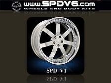 """SPDV1-SERIES 20"""" 3pc Forged Wheels Rims Audi R8, Lamborghini, Ferrari, SLR, GTR"""
