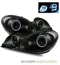 For 98-05 Lexus GS300/GS400 CCFL Angel Eye Halo Projector Headlights Black