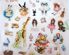 Kawaii Japanese lolita girl stickers! Cute Japan street fashion, hime & otome