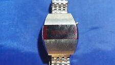 Vintage Red LED Men's Watch