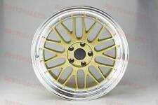 "19"" STAGGERED GOLD LM STYLE RIMS WHEELS 19X8.5 & 19X9.5 TOYOTA CAMRY LEXUS ALTIM"