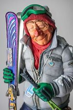 "The Comic Art Of Guillermo Forchino The Skier Figurine Sculpture Statue 17"" Larg"