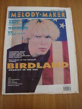 MELODY MAKER 1990 JANUARY 13 BIRDLAND SISTERS OF MERCY U2 LIGHTNING SEEDS