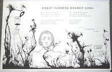 LEW WELCH broadside SIGNED by ARTIST WILLIAM WEBER - EARLY SUMMER HERMIT SONG