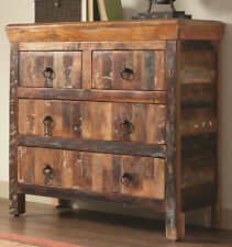 NEW RUSTICA RECLAIMED WEATHERED WOOD FINISH ENTRY HALLWAY CABINET w/ DRAWERS