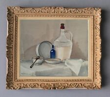 A. LANDAUD (1924-2013) AQUARELLE NATURE MORTE A LA CRUCHE VERS 1950 (68)