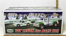 2011 Hess Gasoline Toy Truck and Race Car Racing Multiple Sound Lights Ramp NIB