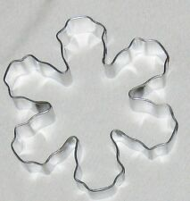 """Metal 5"""" Rounded Tip Snowflake Flower Cookie Cutter Art Mold"""