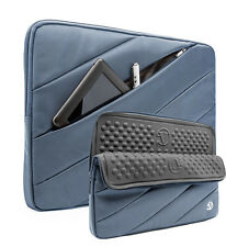 "Laptop Nylon Sleeve Case Bag for Macbook Pro13.3"" & Ipad Pro 12.9"" Blue"