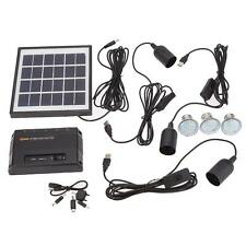 Solar Power Panel LED Light Lamp USB Charger Home System Kit Garden Path Outdoor