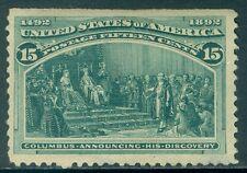 USA : 1893. Scott #238 Mint OG. Fresh & well centered. Small thins. Cat $225.