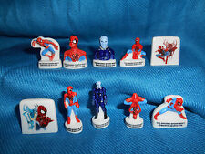 SPIDERMAN 2 Electro Set of10 Mini Porcelain Figures SPIDER-MAN French FEVES 2014