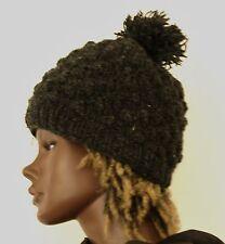 Strick Mütze mit Bommel_Wolle_woolen hat knitted with bobble_Rasta, Goa
