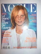 Magazine mode fashion VOGUE PARIS #786 avril 1998 le blanc