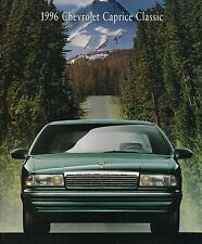 1996 Chevy CAPRICE CLASSIC Brochure/Catalog w/ Color Chart: Sedan,Station Wagon