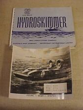 ORIG VINTAGE USN PROTOTYPE HYDROSKIMMER HOVERCRAFT BROCHURE BY BELL AEROSYSTEMS