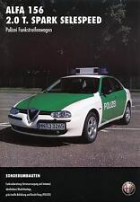 Prospekt Alfa Romeo 156 2.0 Polizei Funkstreifenwagen 1/99 brochure police 1999