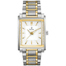 Bulova Men's 98E111 Diamond Case Two Tone Stainless Steel Watch