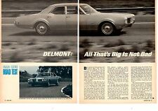 1968 OLDSMOBILE DELMONT 455/310-HP  ~  ORIGINAL 5-PAGE ROAD TEST / ARTICLE / AD