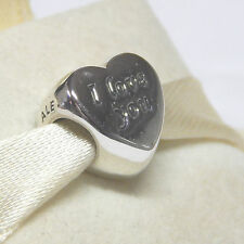 Authentic Pandora  791422 Words Of Love Heart Charm Box Included