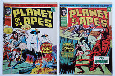 2 x VINTAGE PLANET OF THE APES Magazine/Comics, No.28 & 30, 1975, MARVEL.