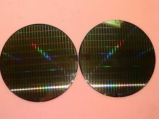 """2x 8"""" 200mm Silicon Wafer for Art Proj. Cool Pattern on front, blank back #TQ622"""