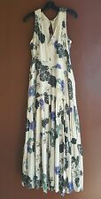 NWT Free People Sure Thing Scoop Neck Sleeveless Printed A-Line Maxi Dress 6