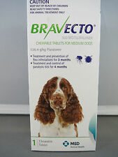 Bravecto for  Very Medium Dogs 10 - 20kg  Single Chew