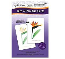 """Quilled Creations """"Quill-A-Card"""" Paper Quilling Kit- BIRD OF PARADISE CARDS ~445"""