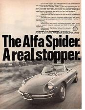 1969 ALFA ROMEO 1750 SPIDER VELOUCE ~ ORIGINAL PRINT AD