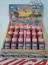 LUCAS GUN OIL #10006  18X2FL. OZ. BOTTLES ( DISPLAY CASE INCLUDED) (MADE IN USA)