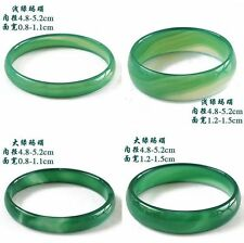 Natural Beautiful Agate Jade Bangle Bracelet Hand-Carved For Baby Child 48-51MM