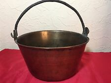 Vintage Jelly / Jam Preserve Smaller Brass  Pan with Swing Handle: 22cm x 11cm