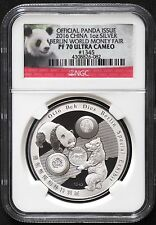 2016 China Ngc Pf70 1Oz Silver Panda Berlin Fair w/ Ogp-Only 197 Pf70-Reduced!