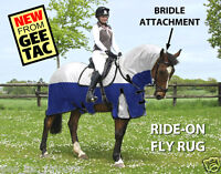 GEE TAC HORSE RUG  RIDE ON FLY RUG NO JOIN  COMBO UV RATED  FLY MASK ALL SIZES