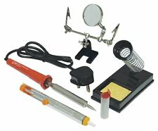 Eagle 30W High Quality Mains Powered Soldering Iron Kit Inc. Helping Hand