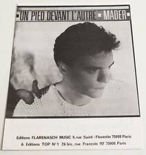 Partition vintage sheet music MADER : Un Pied Devant l'Autre * 80's Stars 80