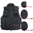 NEW Tactical Vest BLACK For Camo Military Swat Police Hunting Multifunctional